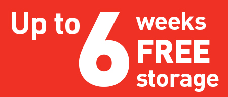 Up to 6 weeks free storage offer panel